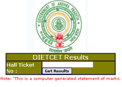 DIET CET /TTC Hall Ticket