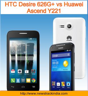 HTC Desire 626G+ vs Huawei Ascend Y221 : Comparison of ...