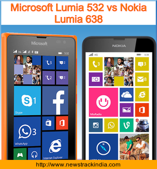 Microsoft Lumia 532 vs Nokia Lumia 638 : Comparison of Features and Specification