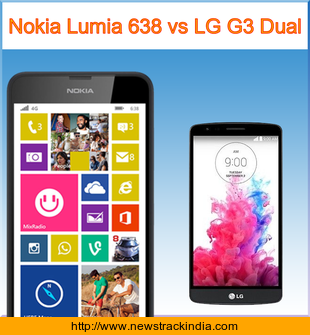 Nokia Lumia 638 vs LG G3 Dual : Comparison of Features and Specification