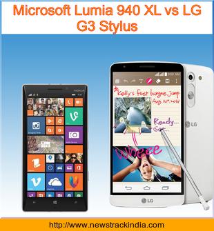 Microsoft Lumia 940 XL Vs LG G3 Stylus Comparison Of