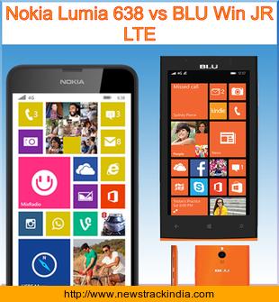 Nokia Lumia 638 vs BLU Win JR LTE : Comparison of Features ...