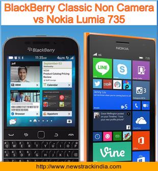 BlackBerry Classic Non Camera vs Nokia Lumia 735