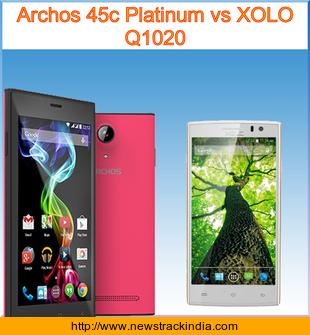 Archos 45c Platinum vs XOLO Q1020 : Comparison of Features ...