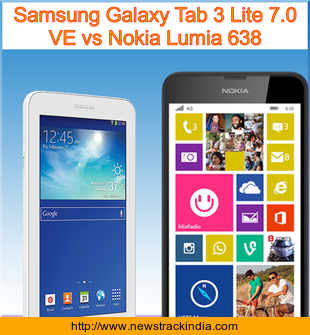 samsung galaxy tab 3 lite 7 0 ve vs nokia lumia 638 comparison of features and specification. Black Bedroom Furniture Sets. Home Design Ideas