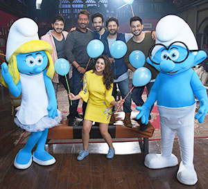 Smurfs spread happiness on the sets of Golmaal Again