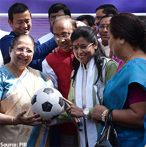 Minister of State Promotion of Women Football in the Country