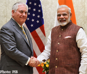 US Secretary of State Rex W. Tillerson calls on Prime Minister Modi