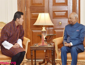 King of Bhutan calls on the President of India Ram Nath Kovind