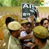 Hindu Sena protest against AISA