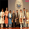 President of India with the Artists after witnessing