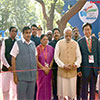 PM Modi inaugurating an exhibition at the Maritime India Summit