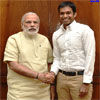 Pullela Gopichand calls on the Prime Minister Modi