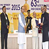 Pranab Mukherjee presenting the Swarn Kamal Award to the Film Maker Shri Sanjay Leela Bhansali