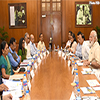 PM Modi chairing a high level meeting on drought and water scarcity