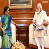 PM Modi meeting the Chief Minister of Gujarat