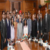 The President, Shri Pranab Mukherjee with the students of IITs, IISc-B and IISERs
