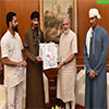 Mr. Sultan Ahmed Al Mahmodi from Oman calling on the PM Modi