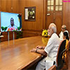 PM Modi and the Prime Minister of Bangladesh Integrated Check Post through video-conferencing
