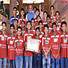 PM Narendra Modi in a group photograph with the children
