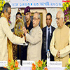 President of India being felicitated at the 125th Anniversary Celebration