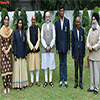PM Modi in a group photograph with the winners of Dhyan Chand Award and Maulana Abul Kalam Azad Trophy