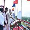 PM Narendra Modi releases water from the gates