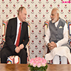 PM Modi meeting the President of Mr. Vladimir Putin