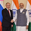 PM Modi with the President of Mr. Vladimir Putin