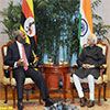 Prime Minister of Uganda calling on the Vice President of India
