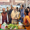 PM Modi visiting an exhibition on theme