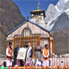 PM Modi being felicitated on his visit to Kedarnath